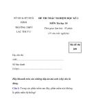ĐỀ THI TRẮC NGHIỆM HỌC KỲ I MÔN Tin học 10 - đề 5
