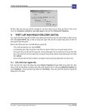 Giáo trình hướng dẫn sử dụng terminal service profile để khai báo thông tin tài khoản trong cấu hình account p6