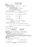 Các dạng bài tập môn Vật lý 12