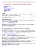 Learning Perl - Dữ liệu mảng và Danh sách