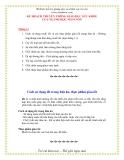 Giáo án giảng dạy khối lớp Lá: Tháng 11