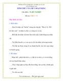 Giáo án chương trình đổi mới Đề tài: Chữ U – Ư