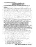 Giáo án Bồi dưỡng học sinh giỏi khối 12: READING COMPREHENSION