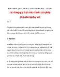 CHỦ NGHĨA MÁC - LÊ NIN: nội dung quy luật mâu thuẫn