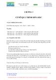 CÔNG NGHỆ MÔI TRƯỜNG - CHƯƠNG 3 CƠ SỞ QUÁ TRÌNH HOÁ HỌC