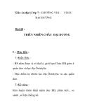 Giáo án địa lý lớp 7 - CHƯƠNG VIII : ĐẠI DƯƠNG  CHÂU  Bài 48 : THIÊN NHIÊN CHÂU ĐẠI DƯƠNG