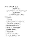 Giáo án địa lý lớp 7 - Bài 46 : THỰC HÀNH SỰ PHÂN HOÁ CỦA THẢM THỰC VẬT Ở SƯỜN ĐÔNG VÀ SƯỜN PHÍA TÂY ANĐÉT I