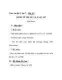 Giáo án địa lý lớp 7 - Bài 45 : KINH TẾ TRUNG VÀ NAM MĨ (tiếp theo)