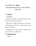 Giáo án địa lý lớp 7 - Bài 22 : HOẠT ĐỘNG KINH TẾ CỦA CON NGƯỜI Ở ĐỚI LẠNH