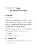 Giáo án địa lý lớp 7 - Bài 16 : ĐÔ THỊ HOÁ Ở ĐỚI ÔN HOÀI