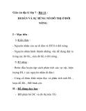 Giáo án địa lý lớp 7 - Bài 11 : DI DÂN VÀ SỰ BÙNG NỔ ĐÔ THỊ Ở ĐỚI NÓNG