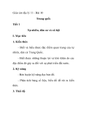 Giáo án địa lý 11 - Bài 10 Trung quốc Tiết 1 Tự nhiên, dân cư và xã hội