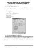 Giáo trình hướng dẫn cấu hình tab advance với các thuộc tính spooling của máy in p1