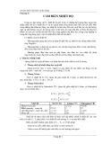 Cảm biến và đo lường - Chương 3:CẢM BIẾN NHIỆT ĐỘ