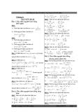 Bài tập tích phân và ứng dụng