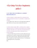 Cấy Ghép Tai (Ear Implants) phần 2