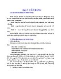 Nguyên lý cắt : CẮT RĂNG part 1
