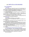 Nguyên lý cắt : THIẾT  KẾ DAO TIỆN ĐỊNH HÌNH part 1