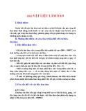 Nguyên lý cắt : VẬT LIỆU LÀM DAO part 1