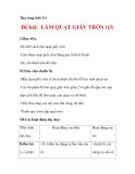 THỦ CÔNG LỚP 3: Làm quạt giấy(Bước 3)