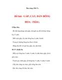 THỦ CÔNG LỚP 3: Đề bài: GẤP, CẮT, DÁN BÔNG HOA (Bài 1)