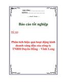 Báo cáo tốt nghiệp: Phân tích hiệu quả hoạt động kinh doanh xăng dầu của công ty TNHH Duyên Hồng – Vĩnh Long