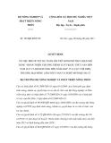 Quyết định số 703/QĐ-BNN-TC