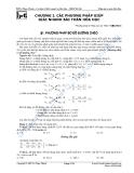 Chương 1: Các phương pháp giúp giải nhanh bài toán hóa học
