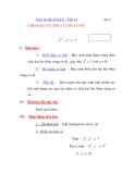 Giáo án đại số lớp 6 - Tiết 14 CHIA HAI LŨY THỪA CÙNG CƠ SỐ