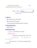 Giáo án đại số lớp 6 - Tiết 62 . NHÂN HAI SỐ NGUYÊN CÙNG DẤU