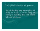 Marketing nông nghiệp - Đánh giá nhanh thị trường-RMA?