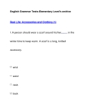 English Grammar Tests-Elementary Level's archiveReal Life: Accessories and Clothing (1)