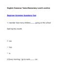 English Grammar Tests-Elementary Level's archiveBeginner Grammar Questions