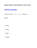 English Grammar Tests-Elementary Level's archiveChit Chat: On the phone