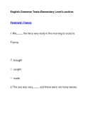 English Grammar Tests-Elementary Level's archivePostcard: France