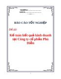 """Luận văn: """" Kế toán kết quả kinh doanh tại Công ty cổ phần Phú Diễn"""""""