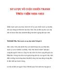 TÀI LIỆU: SƠ LƯỢC VỀ CUỘC CHIẾN TRANH TRIỀU TIÊN 1950-1953