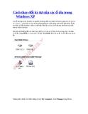 Cách thay đổi ký tự của các ổ dĩa trong Windows XP