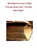 """Bút pháp kí sự của Lê Hữu Trác qua đoạn trích """"Vào phủ chúa Trịnh"""""""