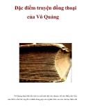 Đặc điểm truyện đồng thoại của Võ Quảng
