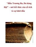 """""""Hồn Trương Ba, Da hàng thịt"""" – nơi kết thúc của cổ tích và sự khởi đầu"""
