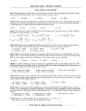 Tài liệu luyện thi đại học trắc nghiệm môn vật lý