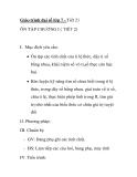 Giáo trình đại số lớp 7 - Tiết 21 ÔN TẬP CHƯƠNG I ( TIẾT 2)
