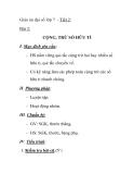 Giáo án đại số lớp 7 - Tiết 2: Bài 2: CỘNG, TRỪ SỐ HỮU TỈ