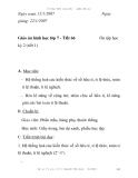 Giáo án hình học lớp 7 - Tiết 66: kỳ 2 (tiết 1)  Ôn tập học