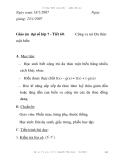 Giáo án đại số lớp 7 - Tiết 60: một biến  Cộng và trừ Đa thức