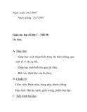 Giáo án đại số lớp 7 - Tiết 56: Đa thức