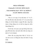 Giáo án hình học lớp 8 - Tiết 37: §1: ĐỊNH LÝ TA-LÉT TRONG TAM GIÁC