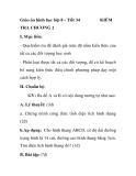Giáo án hình học lớp 8 - Tiết 34 TRA CHƯƠNG 2