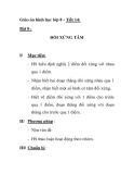 Giáo án hình học lớp 8 - Tiết 14: ĐỐI XỨNG TÂM